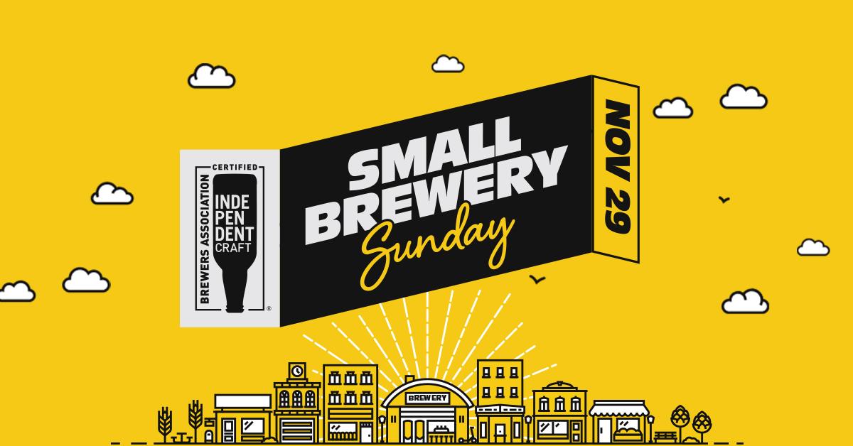 FACEBOOK POST - Small Brewery Sunday 2020_yellow-branding